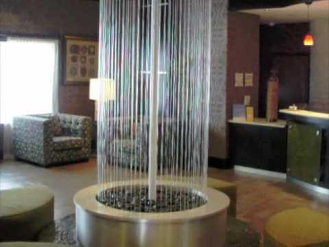 Rain Curtain Water Feature -Custom Circle Shaped Rain Waterfall Wall