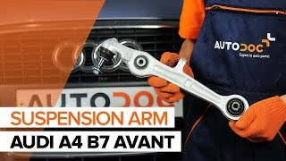 How to replace Suspension arm on AUDI CABRIOLET - video tutorial