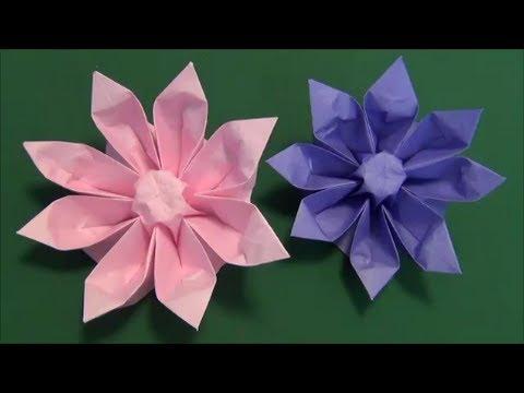 クリスマス 折り紙 折り紙 立体 花 : handful.jp