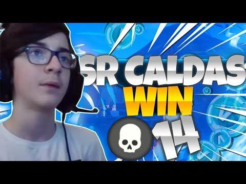 SR CALDAS WIN  FORTNITE GAMEPLAY 14KILLS