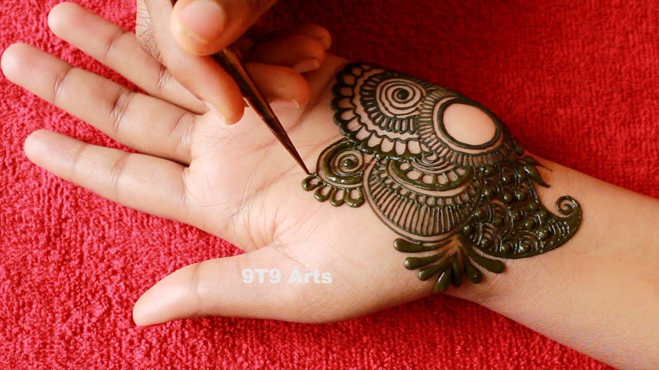 Well, these half hand mehendi designs are what you need to pin. Beautiful Semi Bridal Front Hand Mehndi Designs Easy Arabic Arebik Henna Mehndi Tutorial Beginners Youtube
