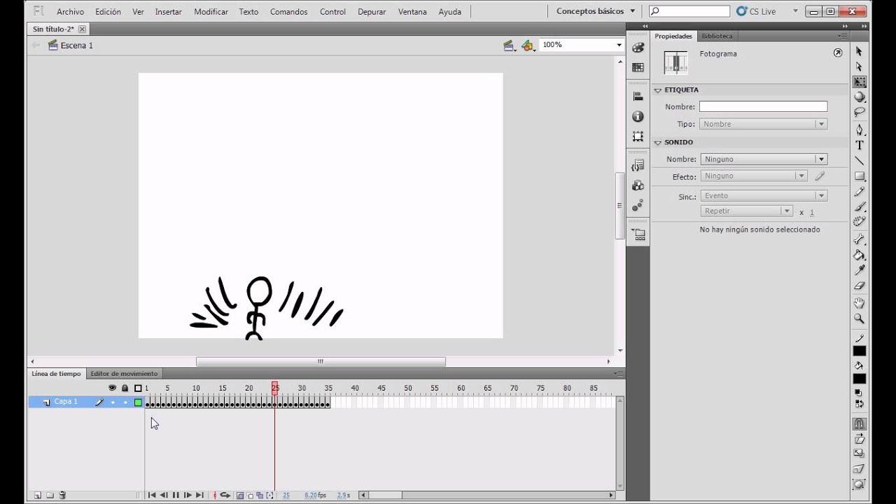 Como hacer una animación fotograma por fotograma en flash. (Leer la ...