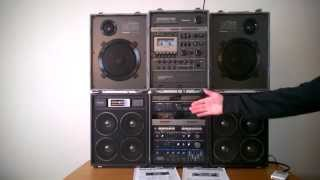 Repeat youtube video Reli's Ghettoblasters: Loudest boombox ever? Panasonic RX-A5 versus RX-6400 (National RXA2)