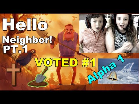 HELLO NEIGHBOR ALPHA 1, SHARK ROOM + GRAVE ROOM & CLASS ROOM HOW TO PART 1