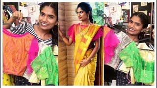 Designer బ్లౌస్ Ideas   మగ్గం బ్లౌస్ Designs   Party wear బ్లౌస్ Design ideas  Navya Varma nayalooks