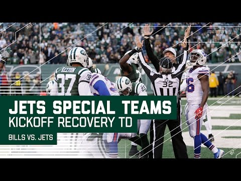 Bills Decide to Not Touch Kickoff & Jets Recover in End Zone for TD! | NFL Wk 17 Highlights