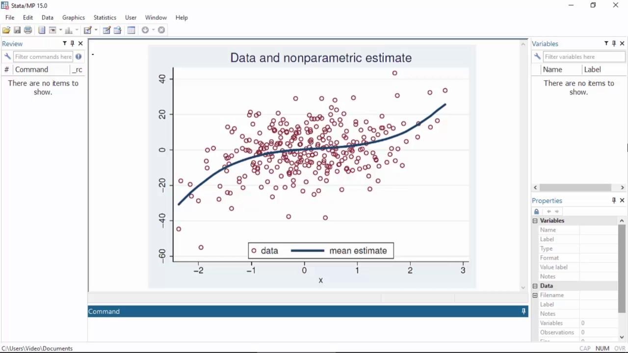 Nonparametric regression   Stata