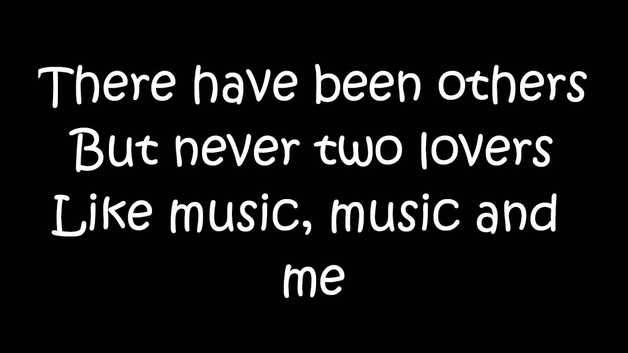 Michael Jackson Music And Me Lyrics Youtube