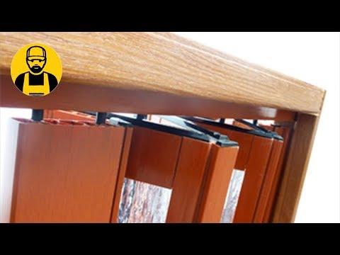 Как установить дверь гармошку своими руками по шагам видео