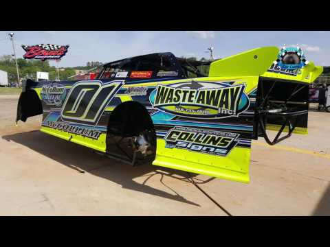 #01 Tate McCollum - Sportsman - 4-15-17 Boyd's Speedway - In-Car Camera