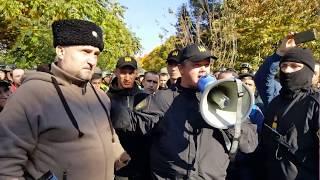 Перекид палаток.Семенченко комментирует сложившуюся ситуайюцию.