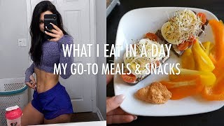 WHAT I EAT IN A DAY TO STAY FIT & HEALTHY | Easy & Quick Meal Ideas + Grocery Haul