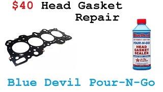 Honda Civic 1.6 Head Gasket Repair - Blue Devil Pour-N-Go Review