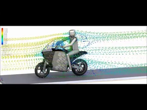 CFD Study - Drag Coefficient - Electric Touring Motorcycle