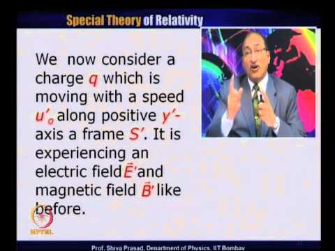 Mod-01 Lec-22 Electric & Magnetic Field Transformation
