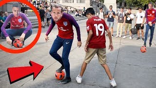 HARRY KANE PLAYS FOOTBALL IN PUBLIC !? (NUTMEGS WITH JESSE LINGARD)