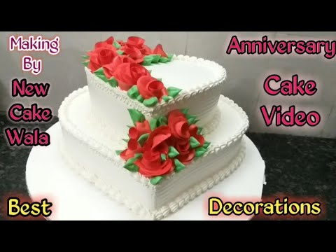 How To Make Heart Shape Cake Anniversary Cake Making By New Cake