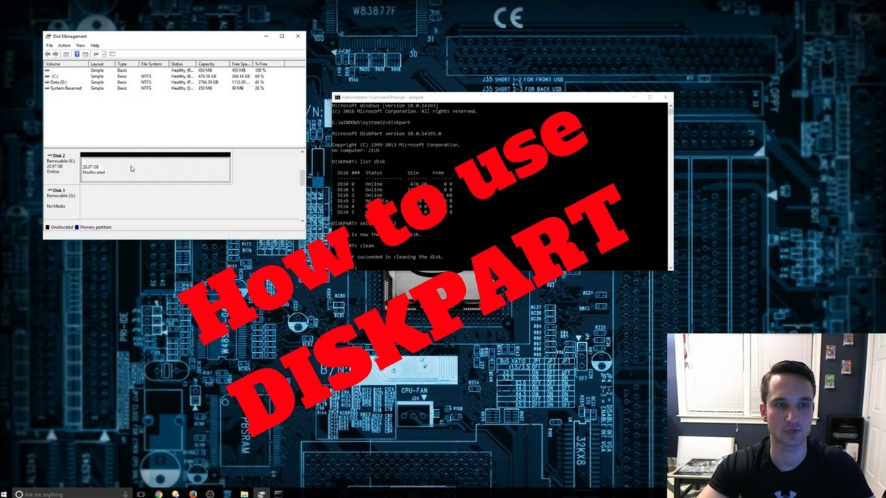 Format USB with Diskpart Windows 10