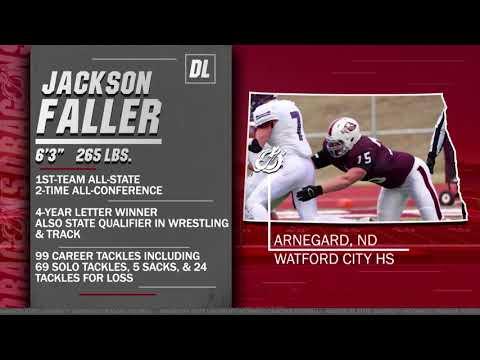 Jackson Faller (DL, 6-3, 265, Arnegard, N.D./Watford City HS)