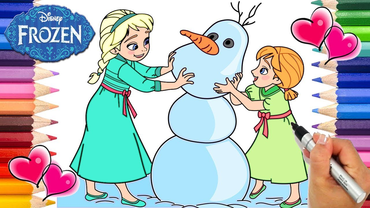 Frozen Baby Elsa Anna And Olaf