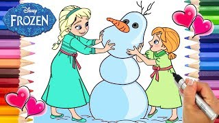Frozen Baby Elsa Anna And Olaf Frozen Baby Elsa And Anna Coloring Book Frozen Coloring Page Youtube