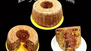 Fruit & Nut Cake - A Christmas & New Year Eggless Cake - Indian Recipes