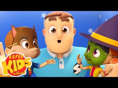Peek A Boo | Hide And Seek Song | Super Supremes Cartoon | Kids Tv Nursery Rhymes