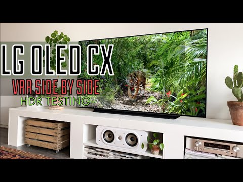 LG OLED CX | VRR Side By Side - HDR Content Testing | 4K
