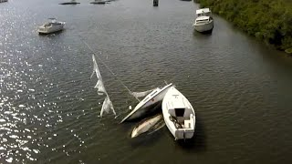Raw FPV footage of The Florida Boat Graveyard
