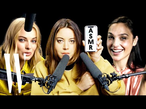 Best of ASMR: Margot Robbie, Gal Gadot and More Explore ASMR with Whispers and Sounds | W Magazine