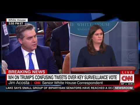 Huckabee Sanders mocks CNN ratings in spat with Acosta