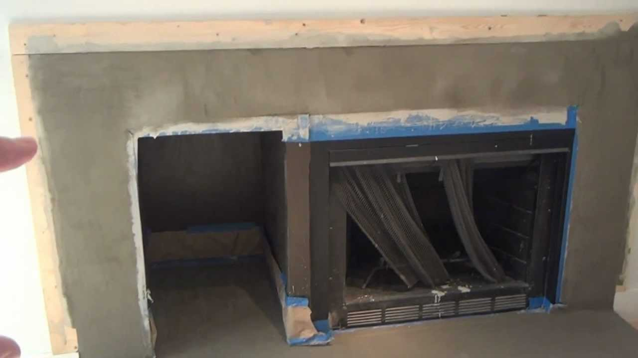 how to make a concrete fireplace surround step 6 youtube