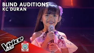 KC Duran - Kahit Ayaw Mo Na Blind Auditions The Voice Kids Philippines Season 4