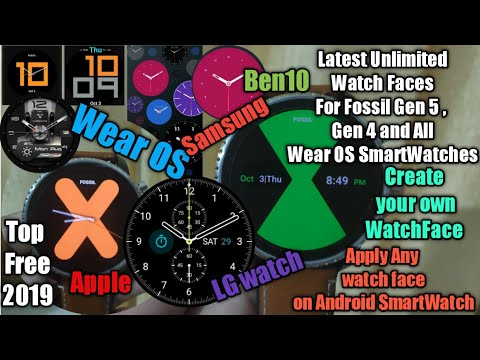 Best Watchfaces For Fossil Gen 5 ,Q4&3  Wear OS Smartwatches    Apply Any Watch Face On Fossil Gen 5