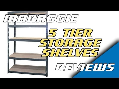 1.8M Heavy Duty Metal 5 Tier Storage Shelves - assembly & review
