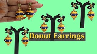 Making of Donut Thread Earrings  / DIY Whole beaded Earrings