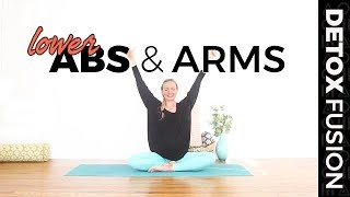 Day 19: Lowers Abs Workout - Yoga for Your Low Abs & Arms (35-Min)