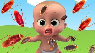 Wrong Heads Baby Cockroach Giant Animals Color Learn Finger Family Nursery Rhyme Song