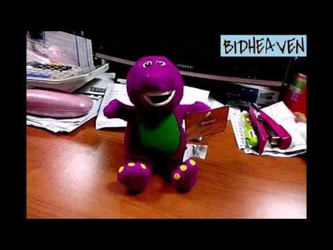Barney Dinosaur with Music When U Press Soft Plush Stuffed Teddy Doll Toy