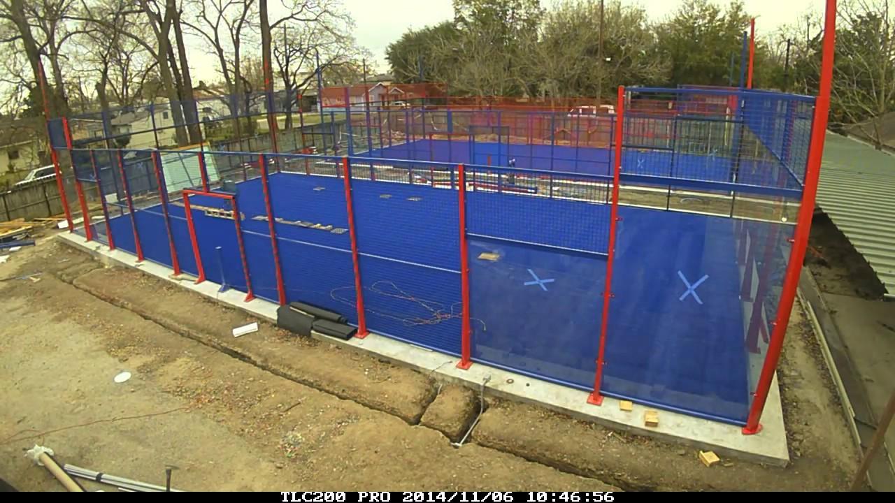 Usa Padel Center setting up two padel courts at iPadel Houston - YouTube