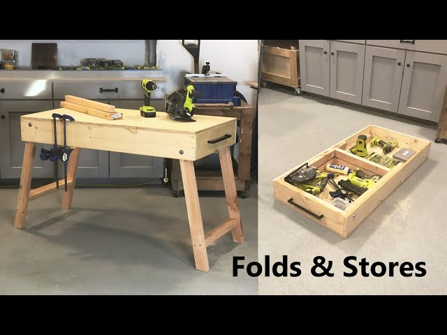 portable workbench that stores tools