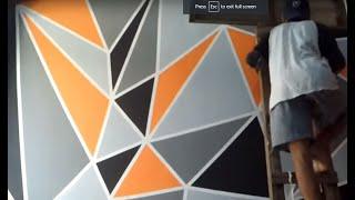 cara mengecat kamar dengan motif geometric thumbnail