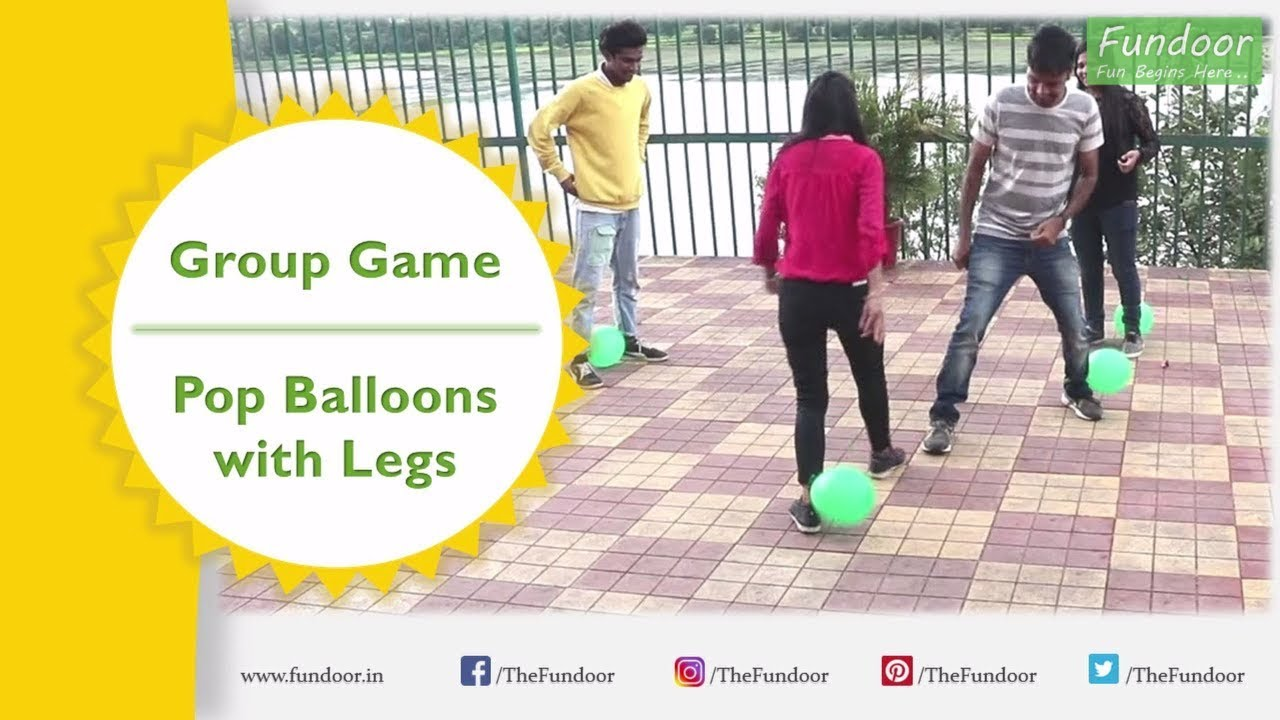 Balloon Game Party Games For Groups Pop The Balloons With Legs