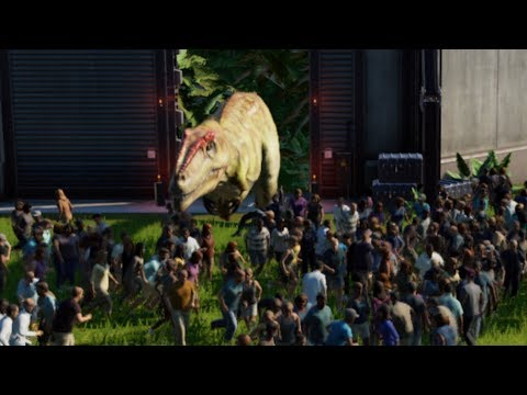 TRAPPING 1000 PEOPLE with ALL CARNIVORES - Jurassic World Evolution