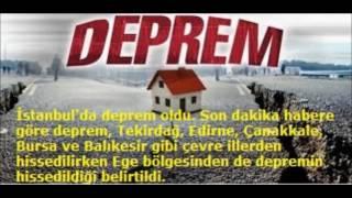 İstanbul, Bursa ve İzmir'de Hissedilen Korkutan Deprem
