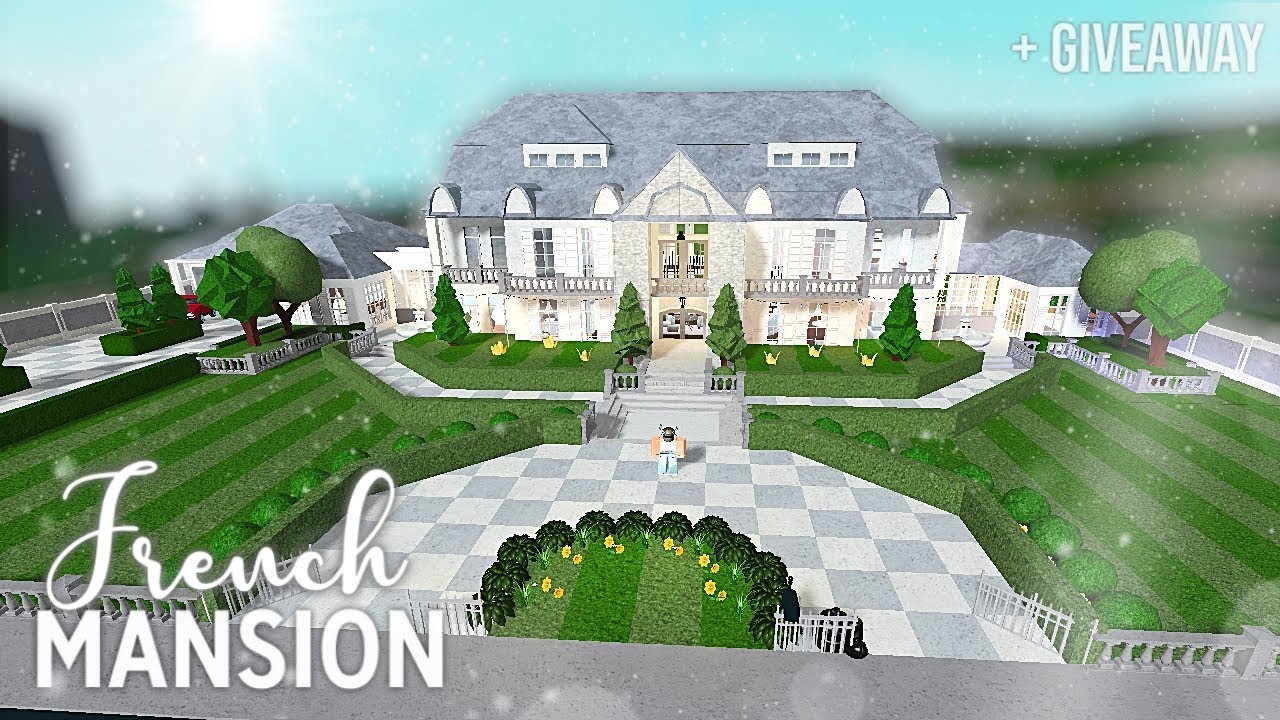 Roblox   Bloxburg   French Mansion + giveaway