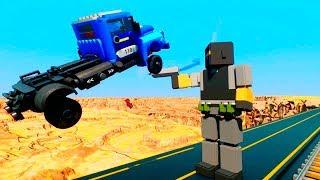 Lego Cars vs Ragdolls Falls Crasch #2   Brick Rigs