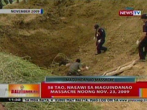 BT: 58 tao, nasawi sa Maguindanao Massacre noong Nov 23, 2009