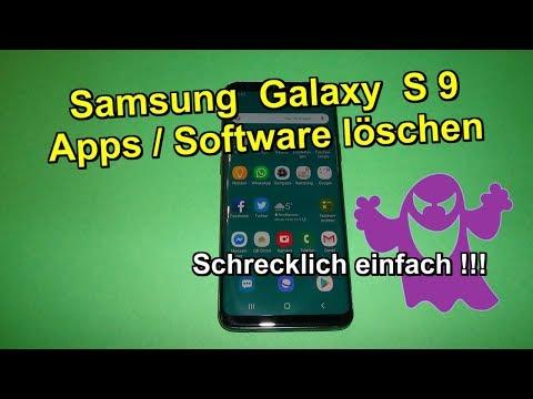 Samsung Galaxy S9 - Apps & Software löschen - Ganz einfach !