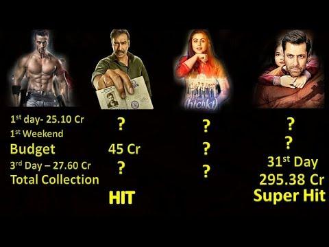 Raid Vs Baaghi 2 Vs Hichki Vs Bajrangi Bhaijaan Movie Collection 2018